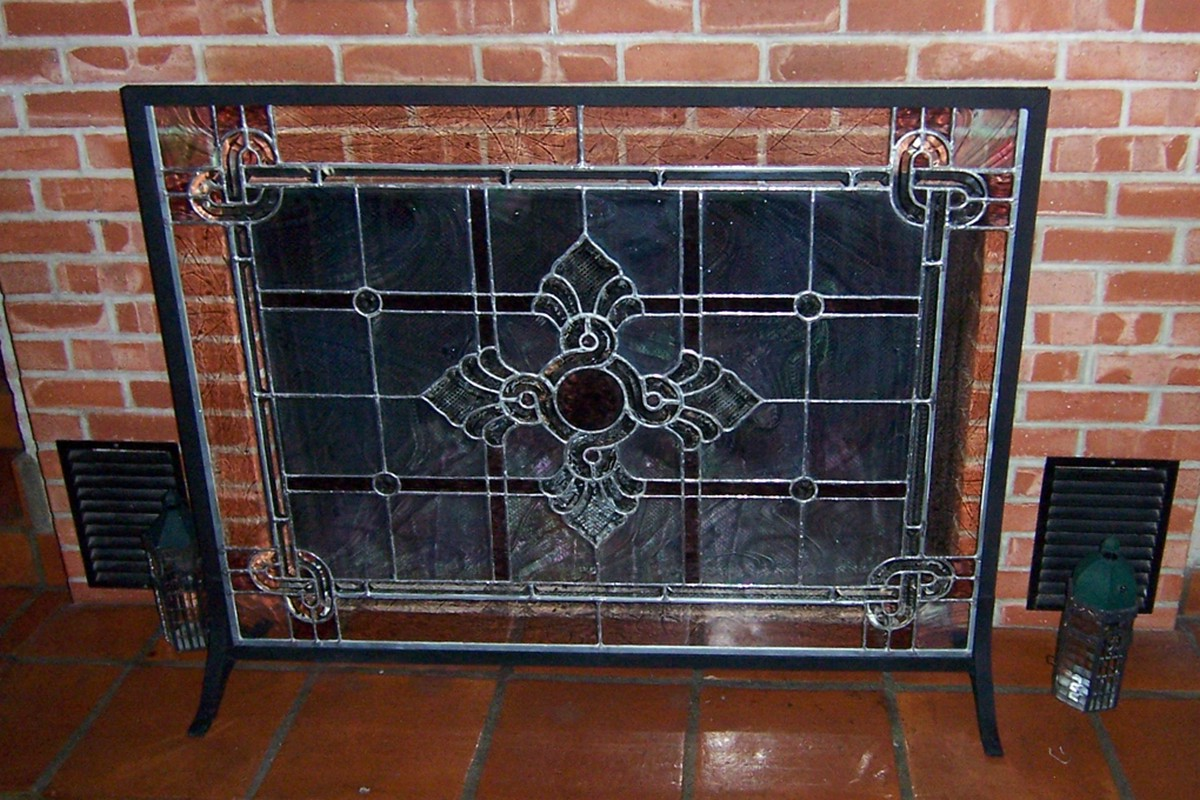 Fireplace Doors Screen And Frame On Custom Fireplace Mobile