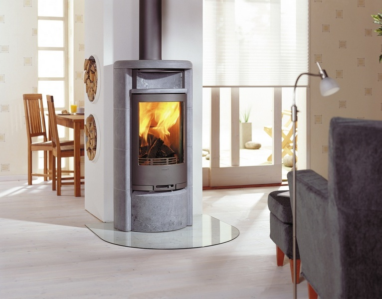 Pellet Wood Stove On Custom Fireplace Mobile Quality